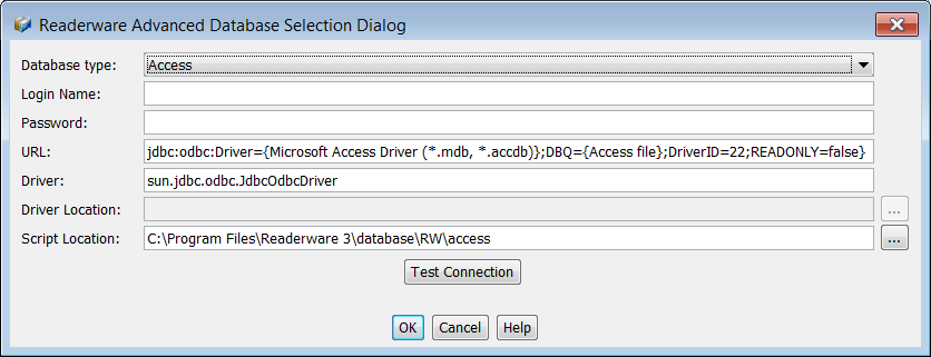Readerware Access Database Connection
