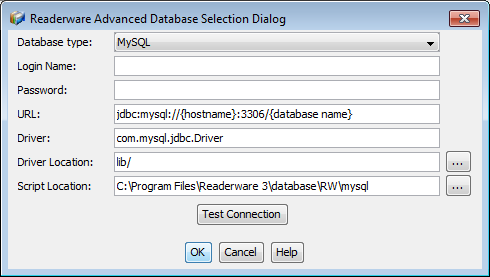 Readerware MySQL Database Connection