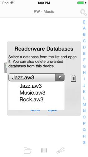 Readerware Mobile List Databases