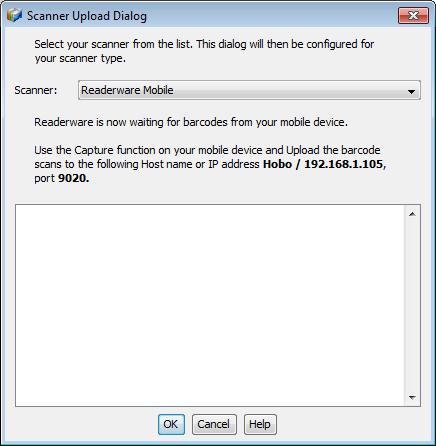 Readerware auto-catalog barcode capture
