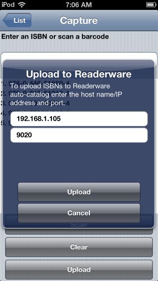 Readerware Mobile Upload