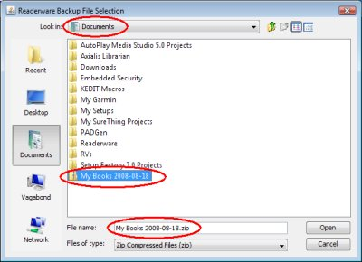 Windows Vista file selection dialog