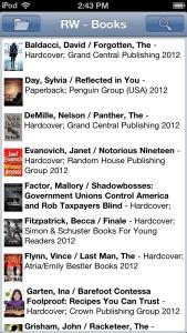 Readerware Mobile for iOS - Books