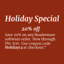 Holiday Sale - Save 20%