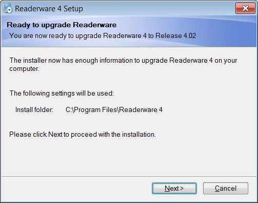 Running the upgrade installer