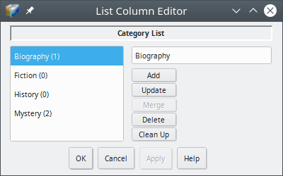 Readerware List Editor
