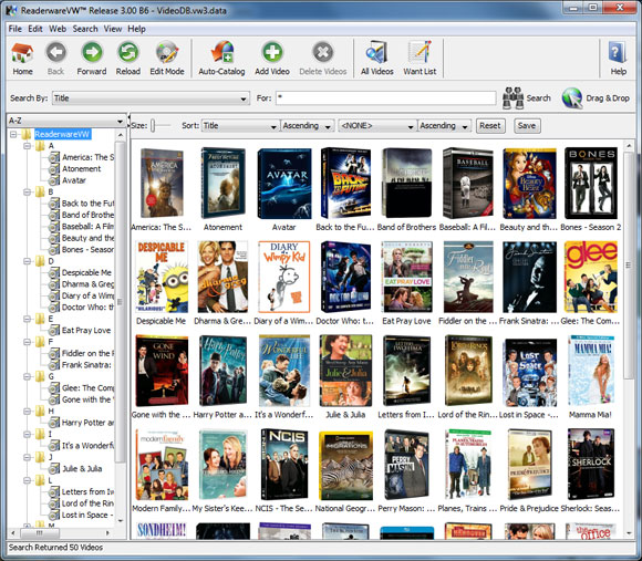 Readerware Video Database Details