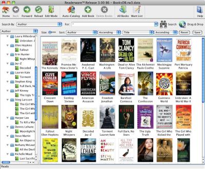 Readerware for Mac OS X full screenshot